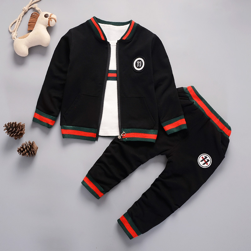 Good hot sale New autumn spring baby boys girls clothes baby tracksuit brand sport sets 3PCS zipper Jacket+t-shirt+pants suits nnw autumn new baby boys clothes 3pcs