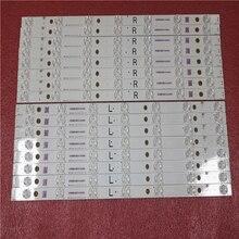 Kit de 16 peças 7led tira de luz de fundo, para panasonic tv TX 55AX630B TX 55AX630E TX 55DX600B tb5509m 550tv01 550tv02 v4
