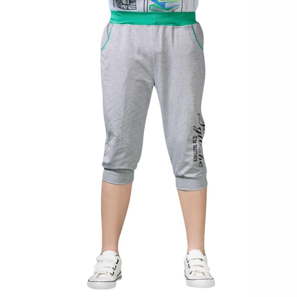 Online Shop Wholesale Retail School Boy Sport Capri Pants [ Blue ...