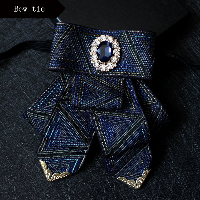 New fashion bow tie wedding Groom Bowtie Geometric butterfly ties for men cravate pour homme party Business Accessories
