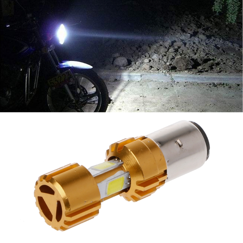 Learned Ba20d Led Cob Motorcycle Bike Hi/lo Headlight Lamp Bulb Dc 10-80v 6500k 1500lm Home