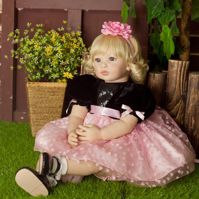 55cm Vinyl Princess Doll Reborn Newborn Lifelike Baby Doll Realistic Girl Doll Toy Cute Kids Birthday