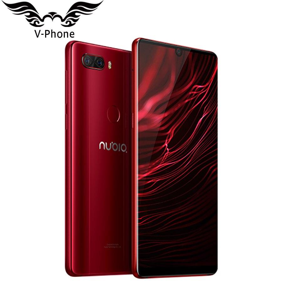 NEW Original Nubia Z18 4g LTE Mobile Téléphone 6 Snapdragon 845 8 gb RAM 64 gb ROM Android 8.1 16MP 24MP goutte D'eau Écran Smartphone