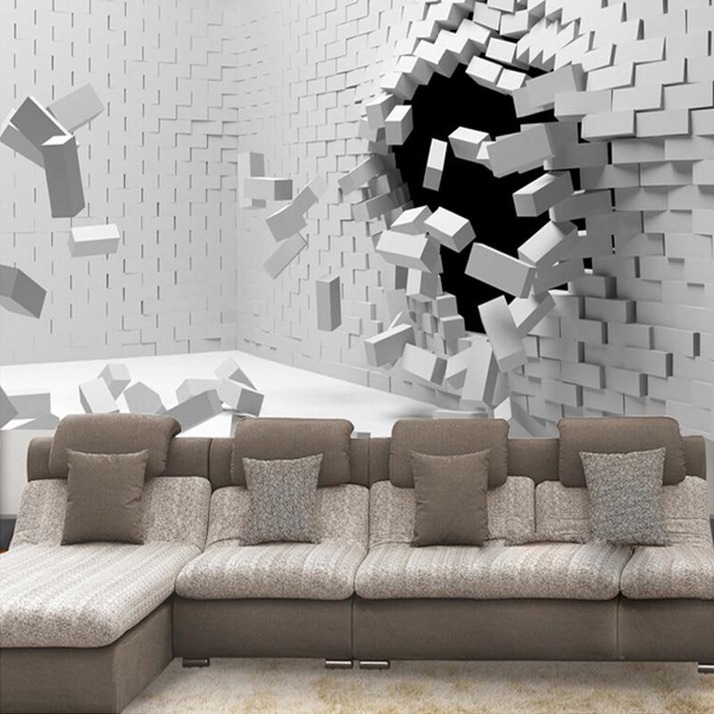 Custom Any Size 3D Wall Mural Wallpaper For Living Room