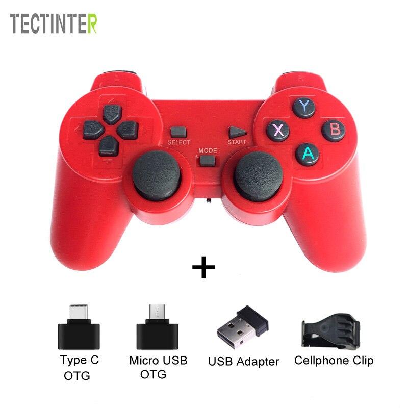 2,4g Wireless Gamepad USB Controller für PS3 Spiel Joypad Joysitck Für Android Telefon & TV & Windows Vista/ 7/8/10