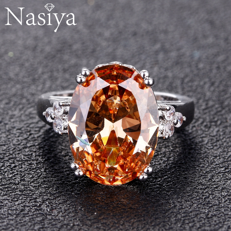 High Quality Gemstone Rings 925 Silver Jewelry Ring For Women Wedding Anniversary Party Christmas Gift Wholesale Size 6-10