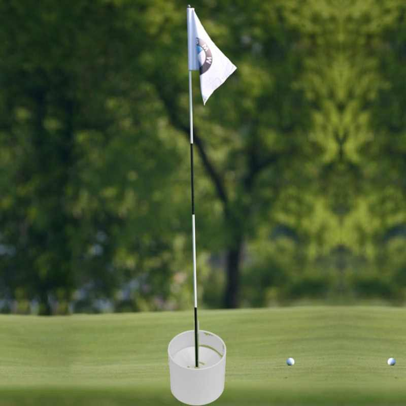 Golf Training Aids Plastic Golf Hole Cup Putting Putter Golf Vlag Stok Yard Garden Training Achtertuin Praktijk Putting Wit