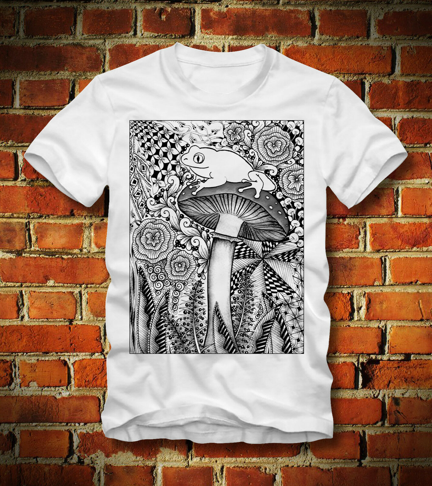 T SHIRT MAGIC MUSHROOM PSYCHEDELIC LSD PSYCHOACTIVE FROG TOAD MDMACool Casual Pride T Shirt Men Unisex Fashion Tshirt