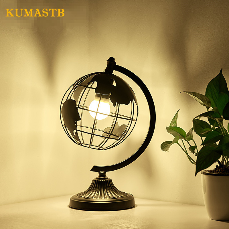 Table Lamp Bedroom Study Bedside Desk Lamp Creative Nordic Modern Globe Shape Table Lamps for Bedroom desk lamp table lamps for bedroom study livingroom night light simple and stylish bedside decorative lamp