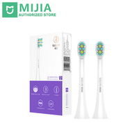 2PCS Soocare Soocas X3 X3S Mini Inter Clean Type Replacement Toothbrush Heads White And Black Colors