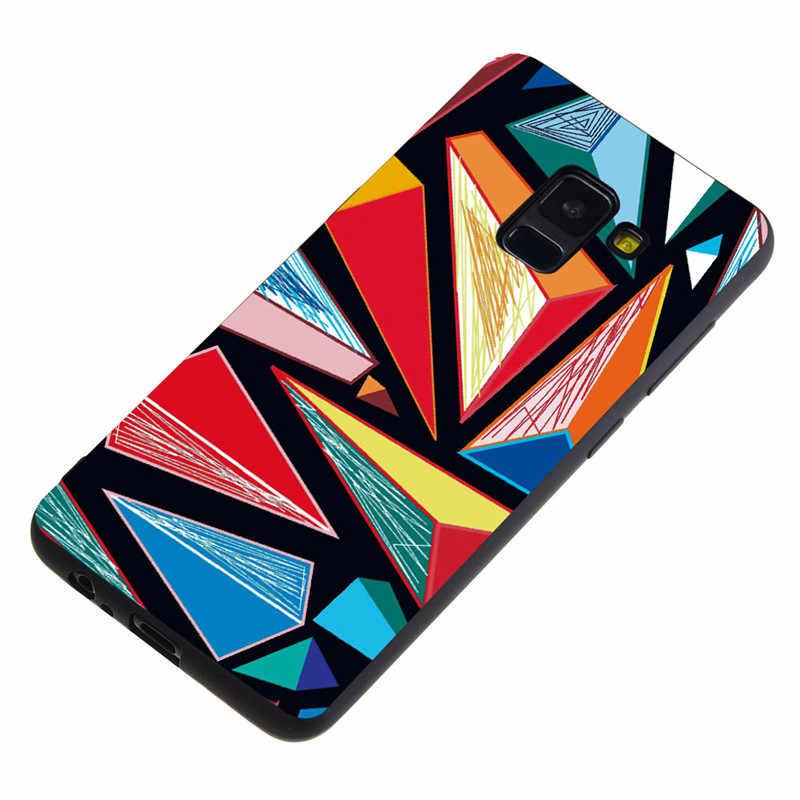 غطاء الهاتف لسامسونج J8 J3 J4 J6 2018 J5 J7 Prime J1 J2 J3 J5 J7 2016 جميل القلب الرخام الزهور لينة قذيفة Funda Coque