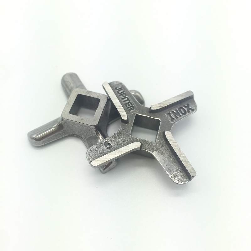 Stainless steel 2 Pieces Meat Grinder Spare Parts #5 Blade Mincer Knife Fit Bosch Philip ss420 S/S420