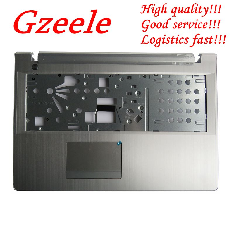 GZEELE NEW Laptop Palmrest Keyboard Bezel Cover For Lenovo Y50C Z51-70 500-15 V4000 Upper Case Palmrest Cover AP1BJ000610 Silver