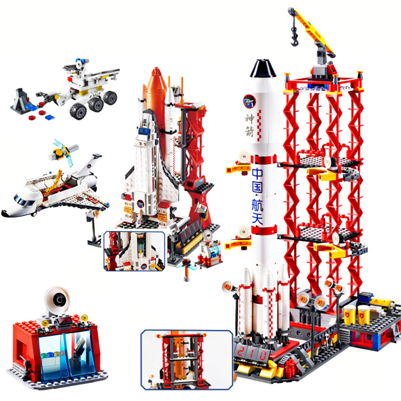 8815 City Spaceport Space The Shuttle Launch Center Bricks Building Block Educational Legoe Blocks Toys Children Christmas Gifts gudi city space center rocket space shuttle blocks 753pcs bricks building blocks birthday gift educational toys for children
