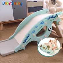 Baby Shining 4 in 1 Slides Rocking Horse for Kids B