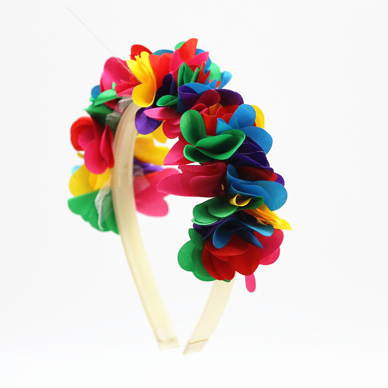 2018 nueva moda flor de seda de gasa alrededor de la cabeza niños - Accesorios para la ropa - foto 3