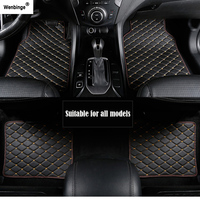 Wenbinge car floor mat For peugeot 308 206 508 5008 301 2008 307 207 3008 2012 waterproof car accessories styling car carpet