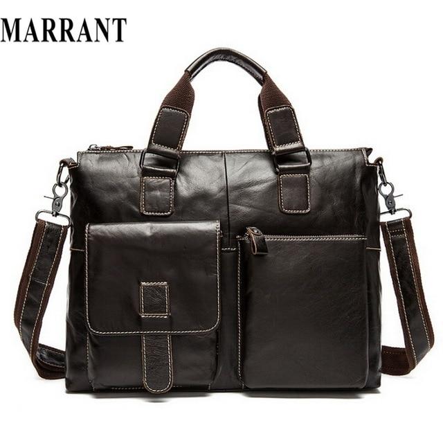 Genuine Leather bag leather men Shoulder crossbody bags Fashion laptop business men's travel bags tote Men messenger bag 2017