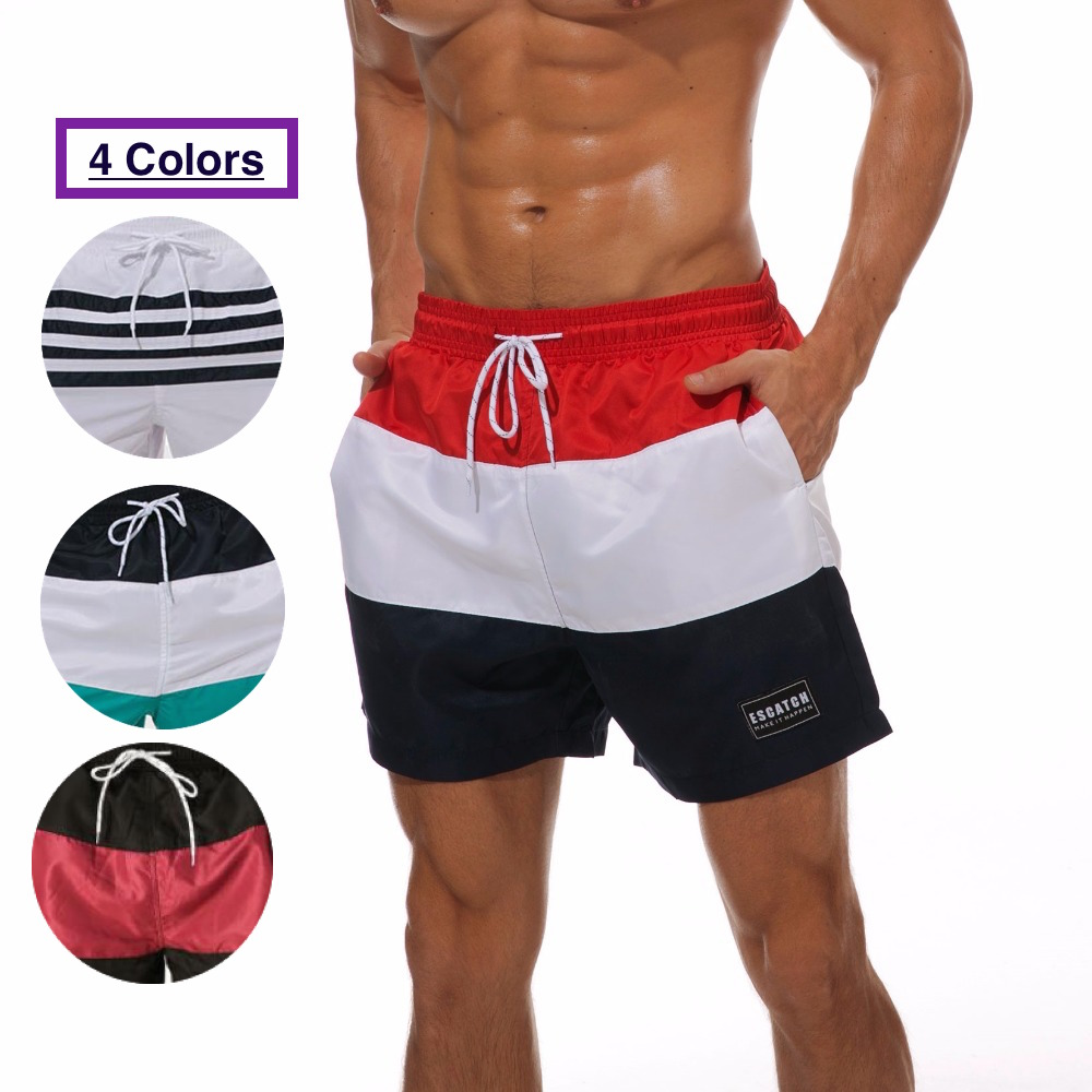 2019 Mens Striped Boardshorts Quick Dry Beachwear Bottoms Casual Shorts Small Boxer Shorts For Men