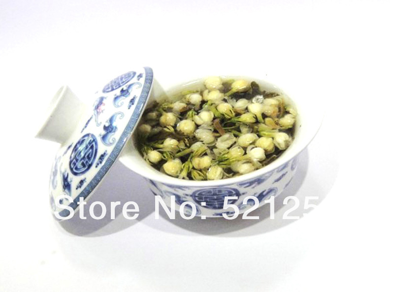 100G Jasmine Flower  green Tea, Green Tea with jasmine buds +Secret Gift+Free shipping 1000g jasmine pearl tea fragrance green tea free shipping