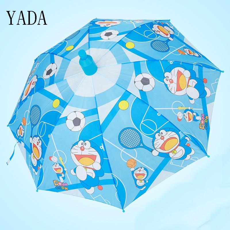 YADA Children Cartoon Dog & Dora Dream Umbrella Full-automatic Long-handle Boys Girls Kids Parasols Anti UV Rain Umbrellas YS168