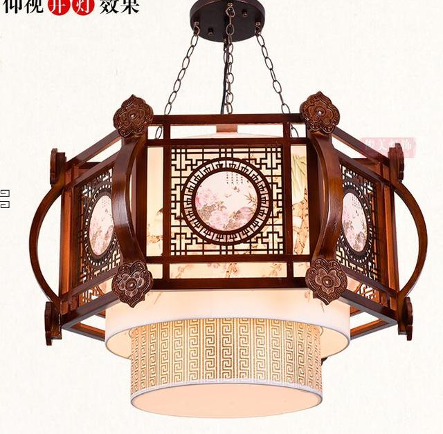 Vintage chinese chandelier real wood sheepskin living room dining vintage chinese chandelier real wood sheepskin living room dining room bedroom art lamp palace audiocablefo