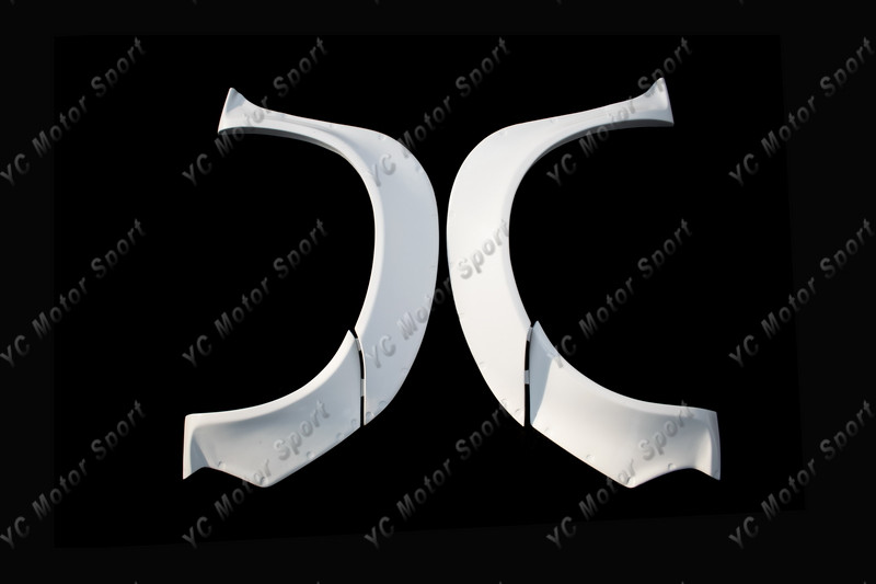2011-2013 VW Scirocco R Karztrec Style Front Over Fender Flare FRP (1)