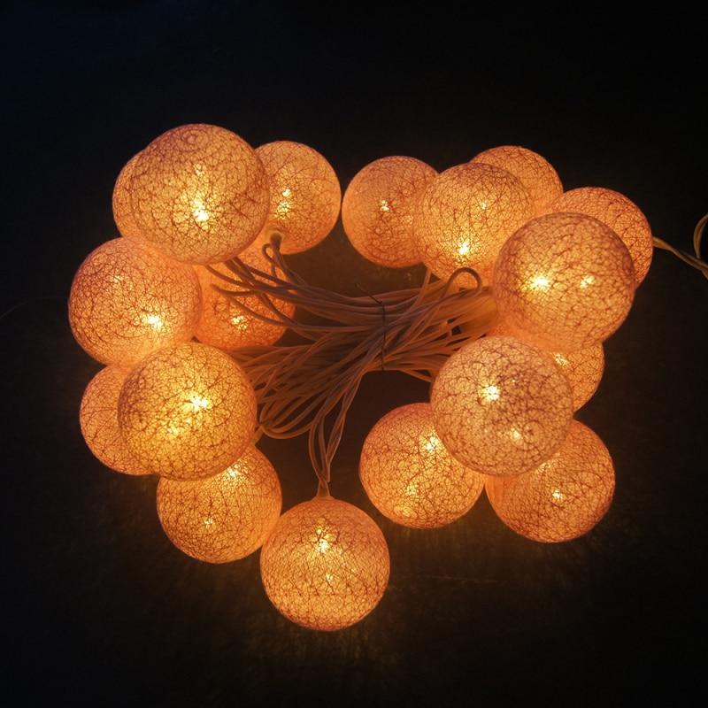 5m 28LED lampu tali garland hangat, AC110V / 220V, cahaya lampu tali - Pencahayaan perayaan - Foto 4