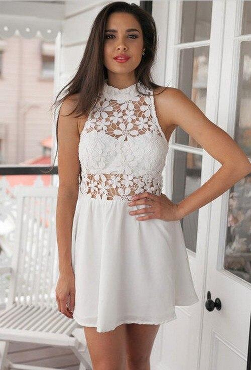 Vestidos color blanco para fiesta playa