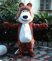 Grizzly Bear Mascot Costume Cartoon Character Fancy Party Dress Suit
