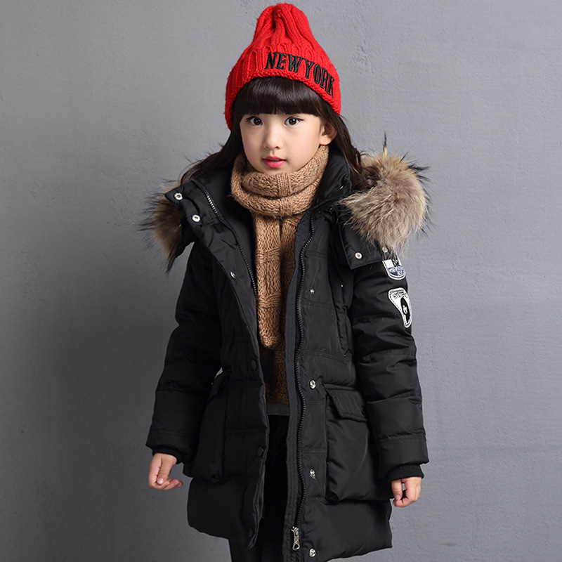 Girls down jacket long in the new fashion winter 2017 female children upset han edition tide leisure coat pregnant women of han edition easy to film a word long woman with thick cotton padded clothes coat quilted jacket down jacket