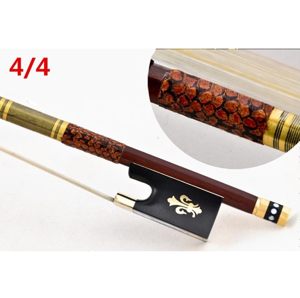 High quality violin bow size 4/4 violino brazilwood wood Bow Horse hair violin accessory bow accessories para violino 1 pcs brazilwood violin bow 4 4 straight best model fr og round stick xd 033