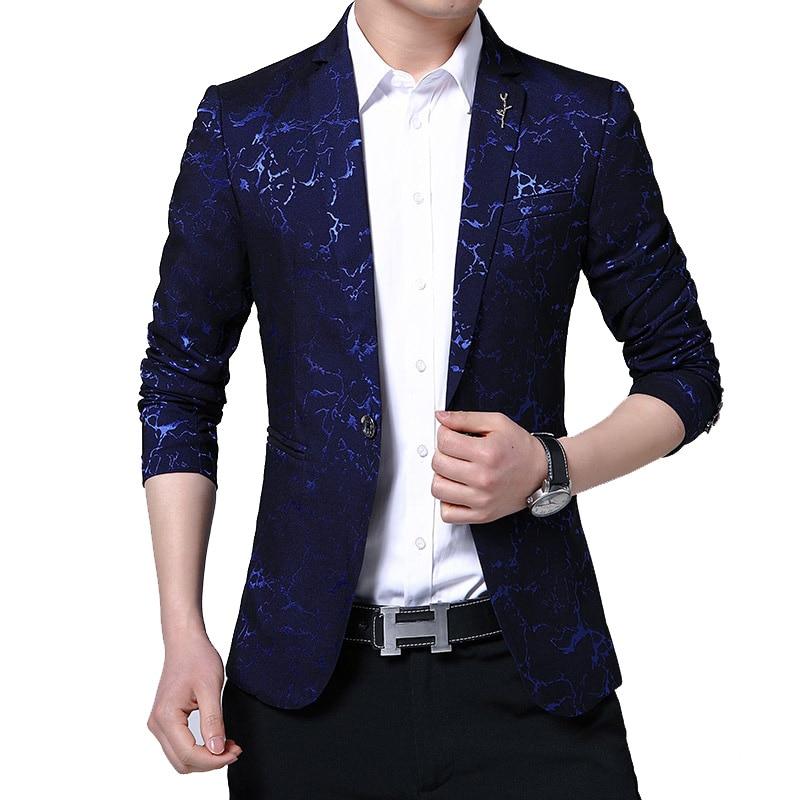 New Mens Blazers 2020 Spring Male Slim Fat 5XL Thin Business Casual Blazer Coat Jacket Coat Brand Outwear Blusa Masculina BF982
