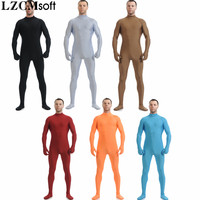 LZCMsoft 22 Colors Unisex Lycra Spandex Zentai Headless Skin Tights Catsuits For Mens Full Body Halloween Party Zentai Costumes