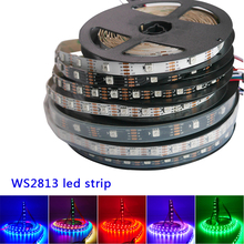 1m/3m/5m WS2813 led pixel strip Dual-signal 30/60/144 pixels/leds/m,WS2812B Updated,DC5V,IP30/IP65/IP67,Black/White PCB