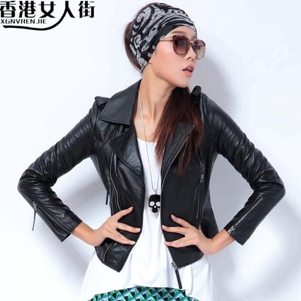 best service 44160 838b1 new-arrived-women -slim-fit-genuine-leather-jacket-coat-fashion-biker-jacket-lady-black -sheepskin-outerwear.jpg