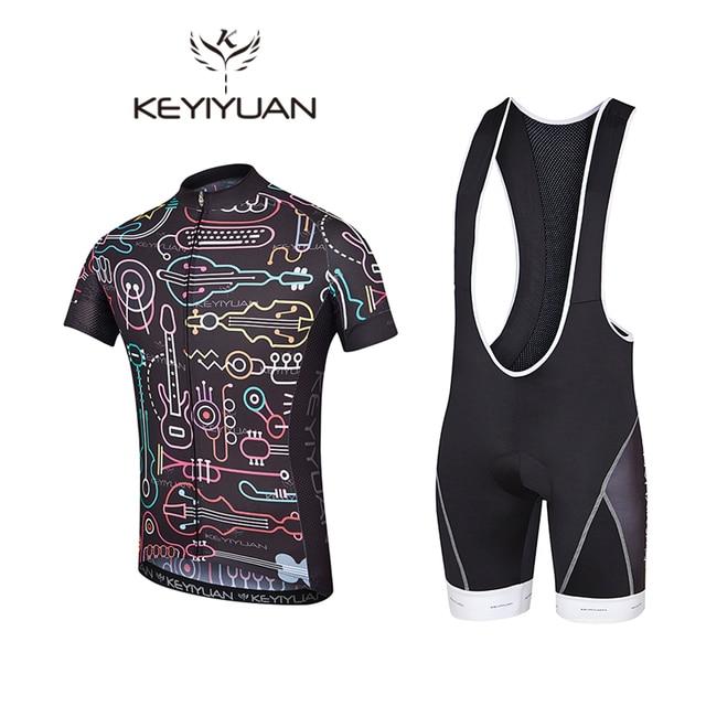 KEYIYUAN Newest Mens Cycling Jerseys Sets Ropa Ciclismo Cycle Clothes Bike  Jerseys Suits Bicycle Sportswear Cycling Clothing 49e4bdbf1