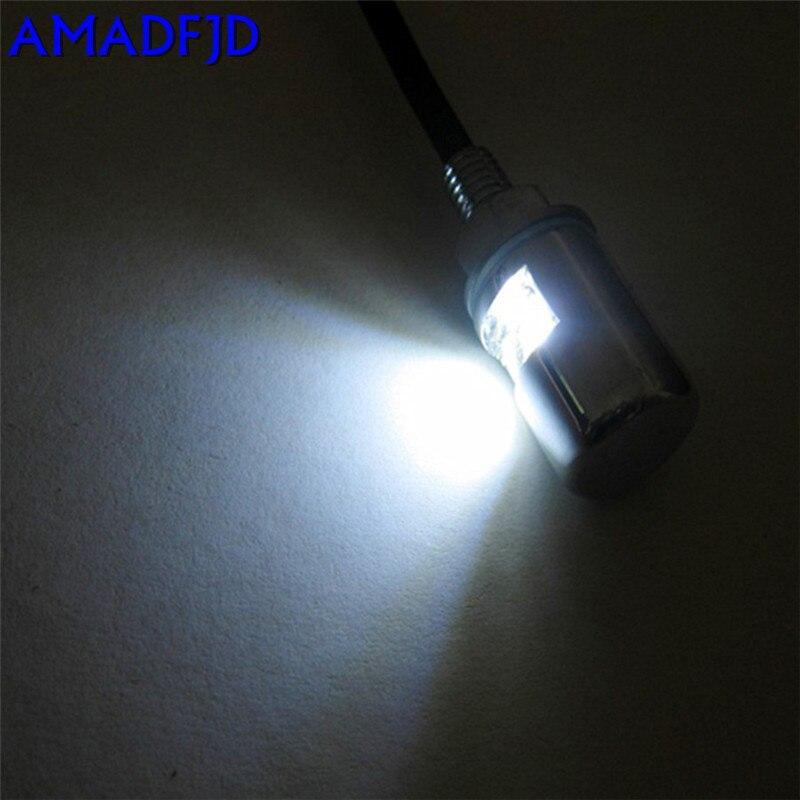 AMADFJD 100 пара Высокое качество Автомобиль Мотоцикл общий белый SMD СВЕТОДИОДНЫЙ номерной знак шпилька болт светильник лампа - 6