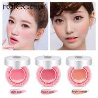 ROREC Baked Blush Air Cushion Blusher pressed foundation face makeup cheek blusher cosmetics Rose Pink Cheek Blush Powder Matte