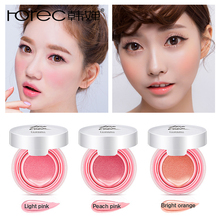ROREC Baked Blush Air Cushion Blusher pressed foundation face makeup cheek blusher cosmetics Rose Pink Cheek Blush Powder Matte by terry cellularose blush glacé цвет rose melba variant hex name e36e81