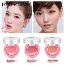 ROREC Baked Blush Air Cushion Blusher pressed foundation face makeup cheek blusher cosmetics Rose Pink Cheek Blush Powder Matte недорого