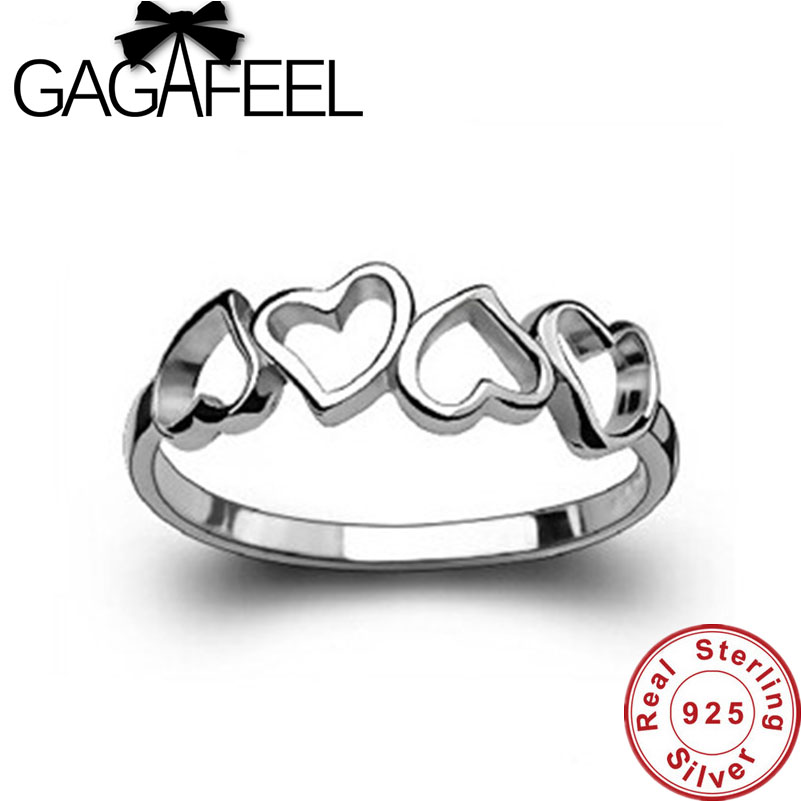 New Arrival Wholesale Genuine 100% Real Pure 925 Sterling Silver Hot Sale Beautiful hearts ring High Quality free shipping ER47