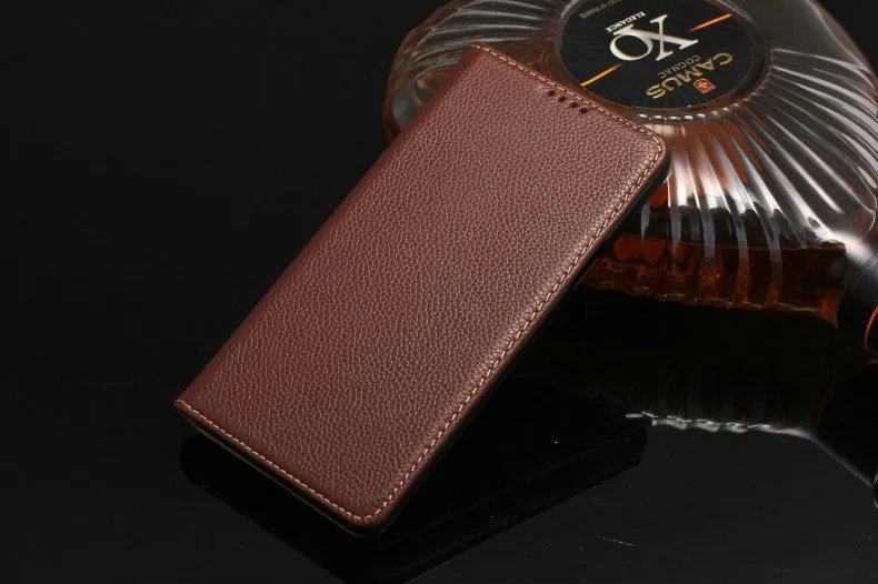 brown genuine leather case for Samsung Galaxy Note5 cell phone