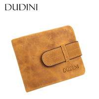 DUDINI New Arrival Clutch Leather Wallets Short Cross Men S Leather WalletCard Holder Hand Made