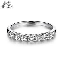 HELON 925 Sterling Zilveren Moissanites Ring 0.7CT GH Kleur Engagement Ring Test Positieve Moissanites Band Diamanten Bruiloft Sieraden
