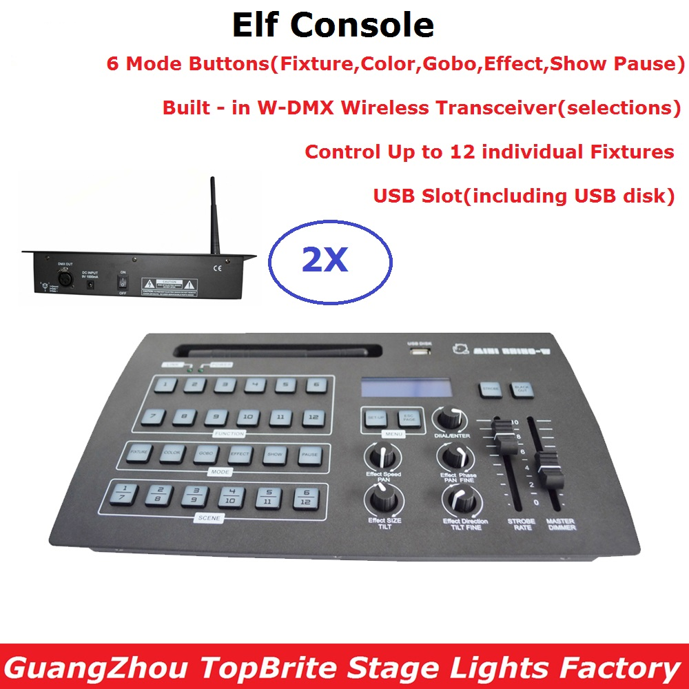 2XLot Free Shipping 432 Channel DMX Controller Dj Lighting Equipments DMX Console Built in W DMX Wireless Transceiver For Sales