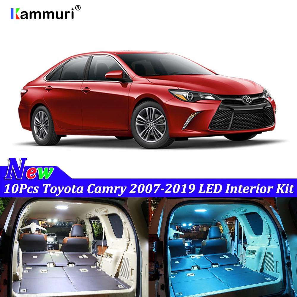 Us 11 04 15 Off Kammuri 10pcs Error Free White Led Car Interior Light Kit For Toyota Camry 2007 2014 2015 2016 2017 2018 2019 Interior Light In