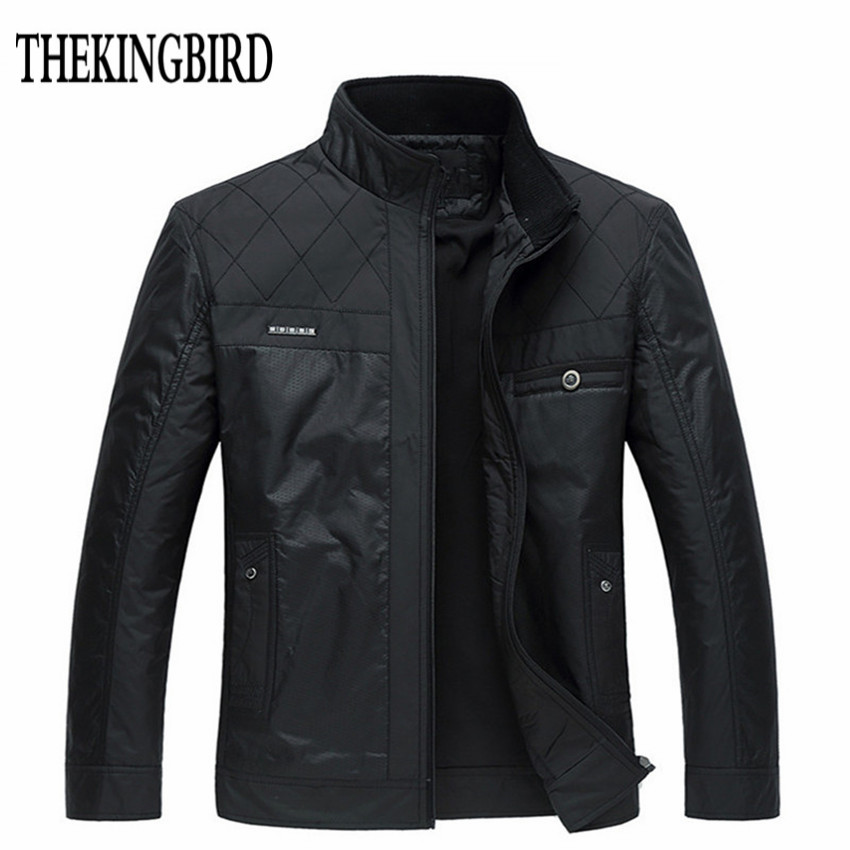 Black Jacket Clothing Padded Business Gentleman Male Autumn Winter Big-Size 4XL Men Thin/thick