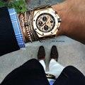European Brand Men Bracelets,24K Gold Plated Micro Pave Zircon Bar Braided Macrame Bracelet Stainless Steel Bangle