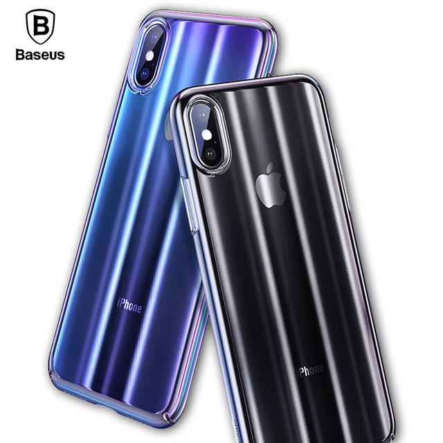 Baseus iPhone X Luxury Aurora Anti Fingerprint Protective Back Case Cover